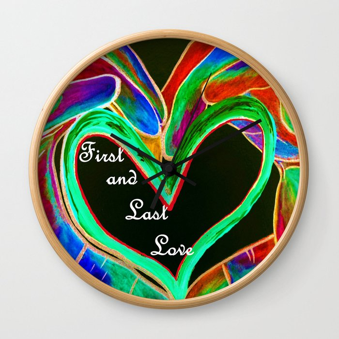First and Last Love Wall Clock