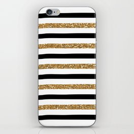 Black and Gold iPhone Skin