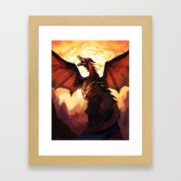 COPPER WYVERN Framed Art Print