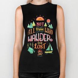 Not All Those Who Wander ii Biker Tank