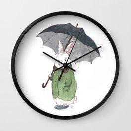 Mr. Tibbles Loves the Rain Wall Clock