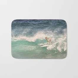 NEVER STOP EXPLORING - SURFING HAWAII Bath Mat