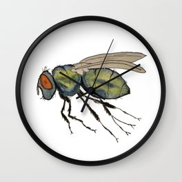 bummed out fly Wall Clock