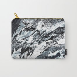 Marble in Black and White Carry-All Pouch