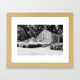 Old Barn in Illinois Framed Art Print
