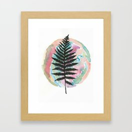 Watercolor Fern  Framed Art Print