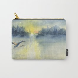Flying Home - Great Blue Heron Carry-All Pouch