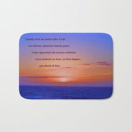 """Moonstone Beach Moment"" with poem: And Counting Bath Mat"