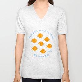 Cute Goldfish Inspirational Message Unisex V-Neck