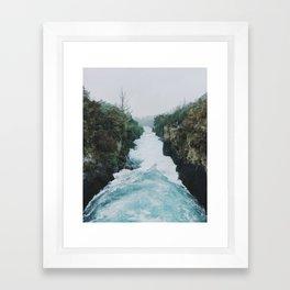 Huka Falls Framed Art Print