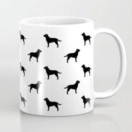 Black Labrador Retriever Silhouette Coffee Mug