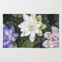 3 Lotus Flowers Rug
