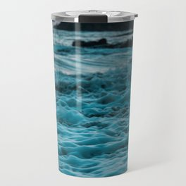 Wavy Waters In California In The Summer Travel Mug