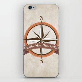Bicycle Wind Rose iPhone Skin