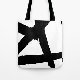 BLACK AND WHITE ABSTRACT BRUSH Tote Bag