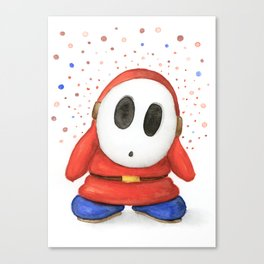 Confused Shy Guy Canvas Print