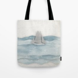 Floating Ship Tote Bag