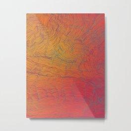 Auric Waves Metal Print