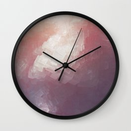 Salt Crystal Wall Clock