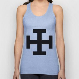 Krückenkreuz Crutch Cross Martial Heathen symbols Unisex Tank Top