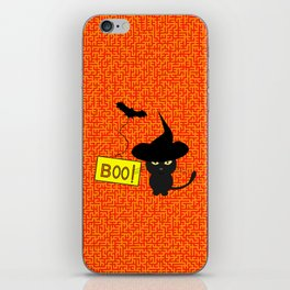 Cute cat on Halloween iPhone Skin