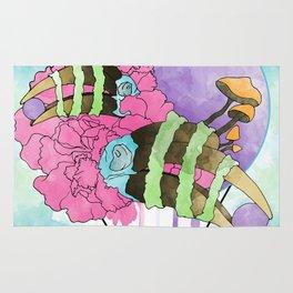 Hornbill Skull - Rainbow Rug