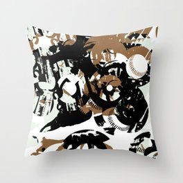 Bases and 8's Throw Pillow
