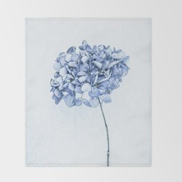 Hydrangea Blue 2 Throw Blanket