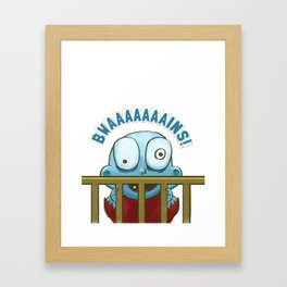 Nobody puts Baby Zombie in a corner! Framed Art Print