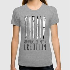 weapons of mass creation Womens Fitted Tee Tri-Grey MEDIUM