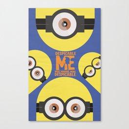 Gru, 3D animated movie poster, cartoon, children, minimalist playbill, Steve Carell Canvas Print
