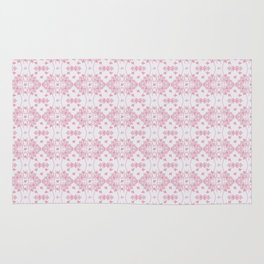 Abstract pastel pink lavender modern cross stitch pattern Rug