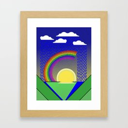 Rainbow of happiness Framed Art Print