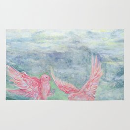 In the Pyrenees, arylic birds Rug