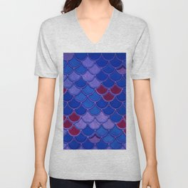 Colorful Dragon Scales Unisex V-Neck