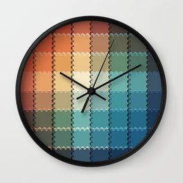 Vintage Color Rainbow Wall Clock