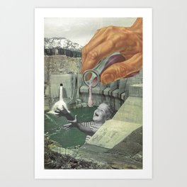 Dying of Thirst Art Print