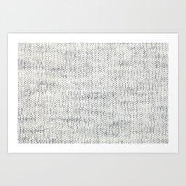 Gray Wool Art Print
