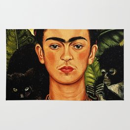 Frida Kahlo Cat Rug