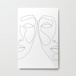 Double Face Metal Print