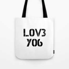 Love you typography white pattern Tote Bag
