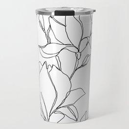 Botanical illustration line drawing - Magnolia Travel Mug