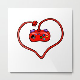 joystick heart Metal Print