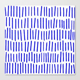 Blue Scandi Paint Print Canvas Print