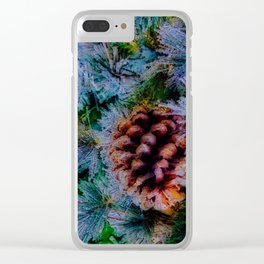 Vibrant Evergreen Christmas Clear iPhone Case