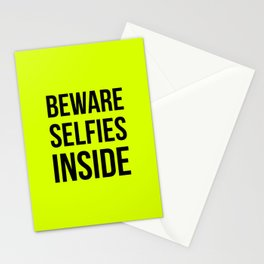 Selfies inside Stationery Cards