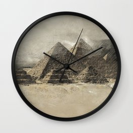 The pyramids - Egypt Wall Clock