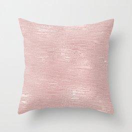 Metallic Rose Gold Blush Throw Pillow