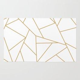 Geometric Gold Hexagon Pattern Rug