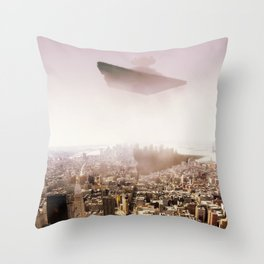 SW Imperial Destroyer over Manhatan. Throw Pillow